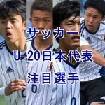 サッカーU-20ワールドカップ2017!注目選手のまとめ【日本代表編】