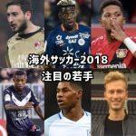 海外サッカー2018!ブレイクしそうな注目の若手選手を15選!