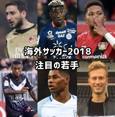 海外サッカー2018・注目の若手