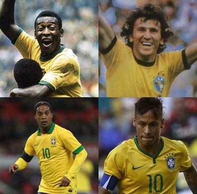 ブラジル代表歴代10番