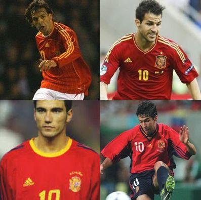 スペイン代表歴代10番