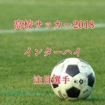 高校サッカーインターハイ2018の注目選手のまとめ【10選】