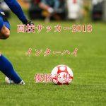 高校サッカーインターハイ優勝予想2018!有力チームを6選!