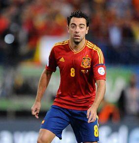 スペイン代表・歴代最強ベストイレブン・フォーメーション・シャビ