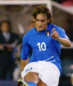 イタリア代表・歴代最強ベストイレブン・フォーメーション・トッティ