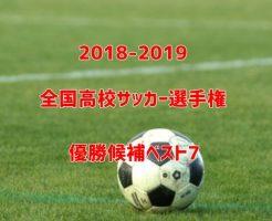 高校サッカー優勝候補・予想2018-2019